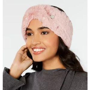 I.N.C. Embellished Faux-Fur Headband.